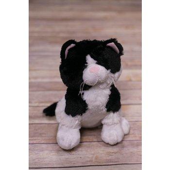 Baby Ganz Black &  White Plush Cat