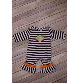 Three Sisters Turkey Applique Knit Romper