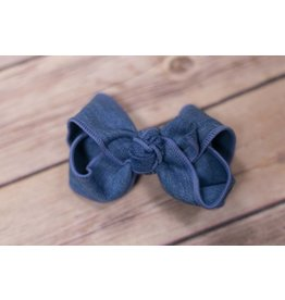 One Stop Bow Shop Denim Knot Bow