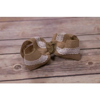 One Stop Bow Shop Jumbo Burlap Lace Bow