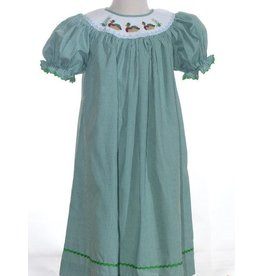Mom & Me Mallard Duck Green Dress