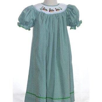 Mom & Me Mallard Duck Green Dress