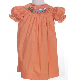 Mom & Me Tangerine Choo-Choo Train Dress