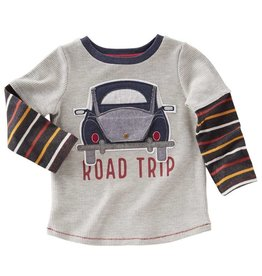 Mud Pie Road Trip Long Sleeve Peekaboo Flap