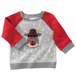 Mud Pie Alpine Reindeer Christmas Sweatshirt