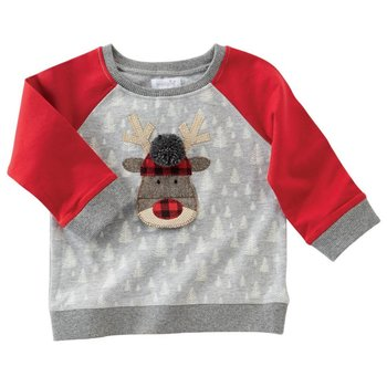 Mud Pie Alpine Reindeer Christmas Sweatshirt