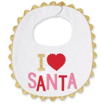 Mud Pie I Love Santa Bib