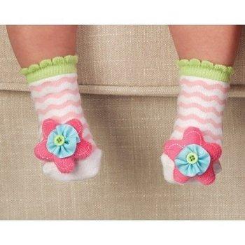 Mud Pie Flower Rattle Socks