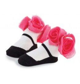 Mud Pie Rosette Sock-Black