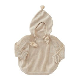 Mud Pie Gold Speck Hooded Poncho