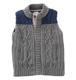 Mud Pie Sweater And Nylon Vest
