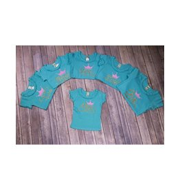 Jujubee Bowtique Teal Birthday shirts Pink Crown