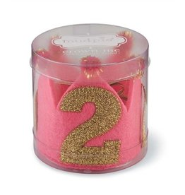 Mud Pie Pink & Gold 2nd Birthday Crown