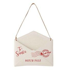 Mud Pie Ceramic Santa Letter Holder