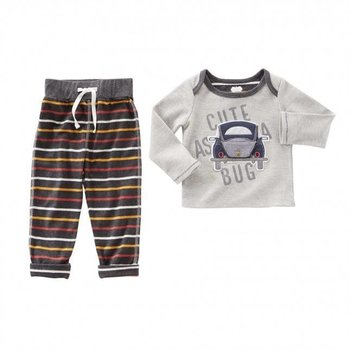 Mud Pie Cute As A Bug Open Trunk Two Piece Set