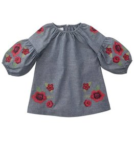 Mud Pie Floral Embroidered Dress