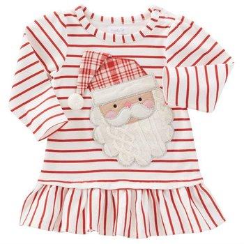 Mud Pie Red Stripe Santa Dress