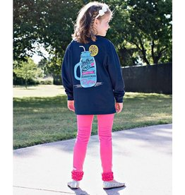 RuffleButts Southern Girls Navy Long Sleeve Tee