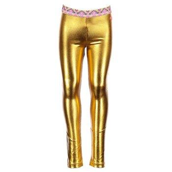 Kidz Art Metallic Gold Tights with Glittered Native Designed Waistline