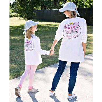 Ruffle Butts Babes & Bows White Long Sleeve Tee