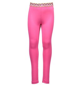 Kidz Art Hot Pink Legging with Gold Glittered Designed Waistline