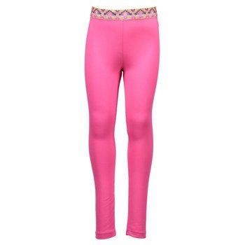 Kidz Art Hot Pink Legging with Gold Glittered Designed Waistline