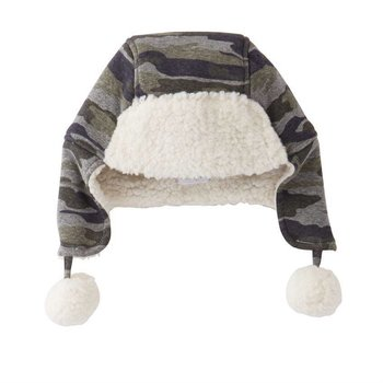 Mud Pie Camo Sherpa Hat