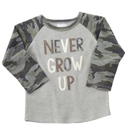 Mud Pie Never Grow Up Raglan