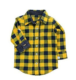Rugged Butts Navy And Yellow Buffalo Plaid Shirt