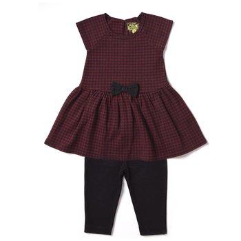 Kapital K A-Line Jacquard dress with leggings