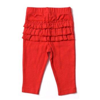 Kapital K Red Baby Leggings with back Ruffles
