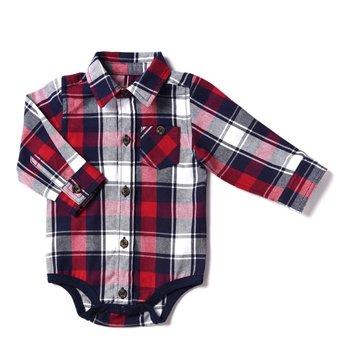 Kapital K Manchester Red Plaid Flannel Bodysuit