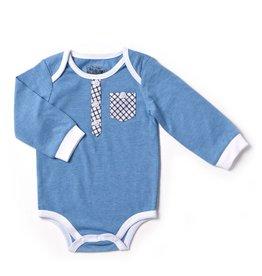 Kapital K Dreamland Blue bodysuit with Plaid trims