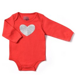 Kapital K Red Bodysuit with Glitter Heart