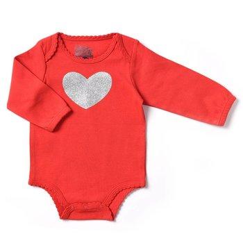 Kapital K Red Bodysuit with Glitter Heart