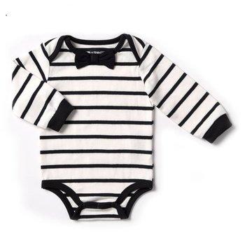 Kapital K Vanilla Stripe bodysuit with Bowtie