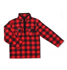 Kapital K Buffalo Plaid Polar Fleece Pull Over