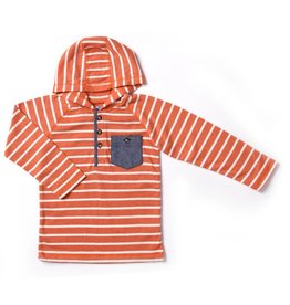 Kapital K Orange Stripe Hoodie With Pocket