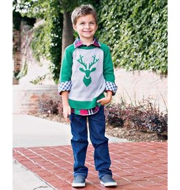 Rugged Butts Emerald Raglan Deer Sweater