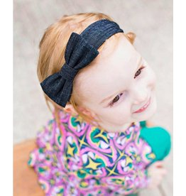 RuffleButts Dark Wash Denim Headband