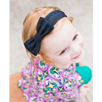 Ruffle Butts Dark Wash Denim Headband