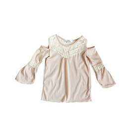 Baileys Blossoms Candice Cold Shoulder Lace Top