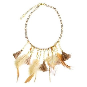 Bailey's Blossom Feather Tassel Nacklace