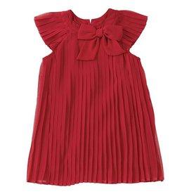 Mud Pie Red Claret Pleated Dress