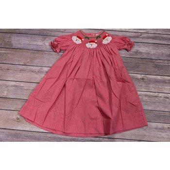 Remember Nguyen Red Jolly Santa Bishop Dress