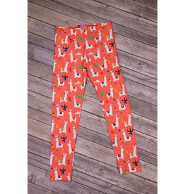 Haven Girl Coral Llama Leggings