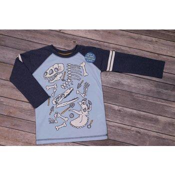 CR Sports Boys Raglan Sleeve Top with  Fossils