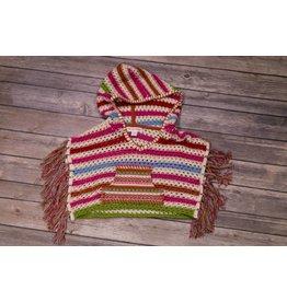 Mimi & Maggie Stripped Crochet Poncho