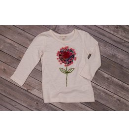 Mimi & Maggie Pom Pom Flower Natural Top