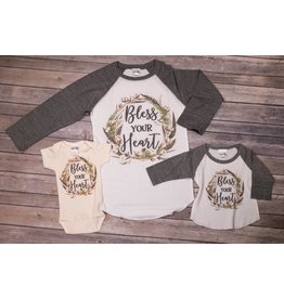 Rockin AB Bless your Heart Raglan